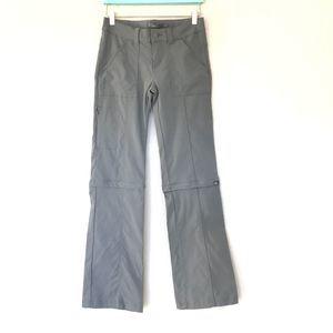 Prana Women's Convertible Gray Utility Pants Sz 0